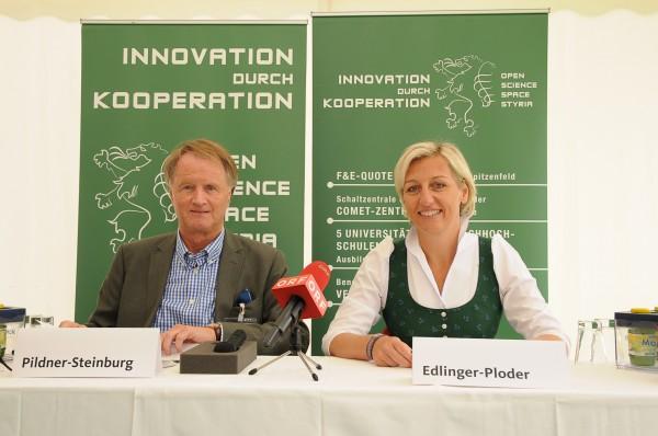 IV-Präsident Pildner-Steinburg und LR Edlinger-Ploder bei der Pressekonferenz